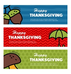 Happy Thanksgiving day Three banners vector image