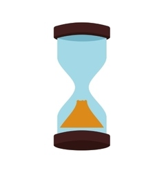 Hourglass time antique old measure icon vector