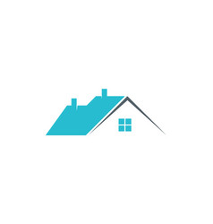 house roof business logo vector image