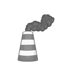 Industrial smoke from chimney icon vector image