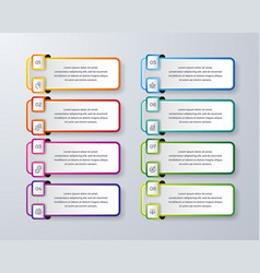 infographic design with 8 process or steps vector image