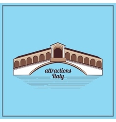 Italy country label vector image