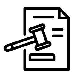 Judge paper decision icon outline style vector