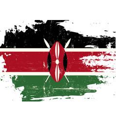 kenya scratched flag vector image
