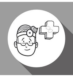 Medical care design health care icon sketch vector