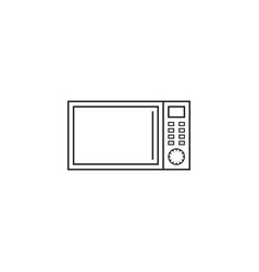 microwave oven line icon outline vector image