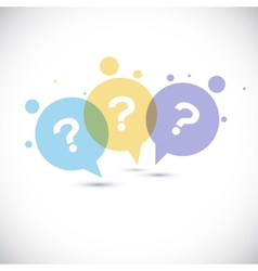 Modern Question mark icon vector image