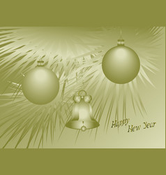 new years card with christmas tree eps10 vector image
