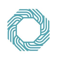 Octagon lightseagreen abstract vector