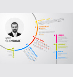 Original circular resume template vector