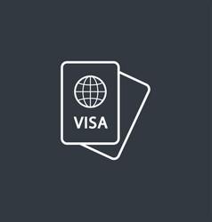 passport modern icon vector image