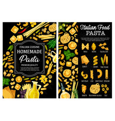 pasta spaghetti herbs and spices italian food vector image