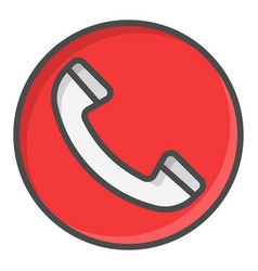 Phone red call symbol icon vector
