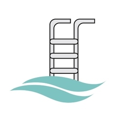 Pool ladder icon vector
