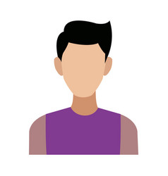 Portrait man young male cartoon people vector