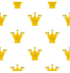 Princess crown pattern flat vector