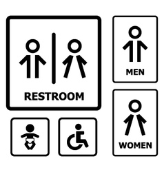 Restroom Sign set vector image