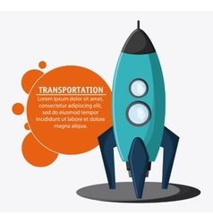 Rocket spaceship transportation vehicle vector