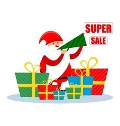 Santa super Christmas discounts vector image