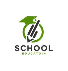 school academy pencil logo vector image