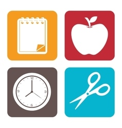 school supplies design vector image