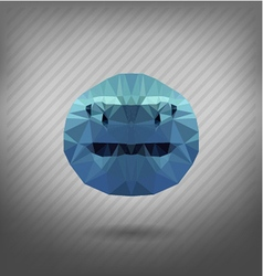 Shark in the style of origami vector