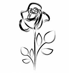Silhouette a rose vector