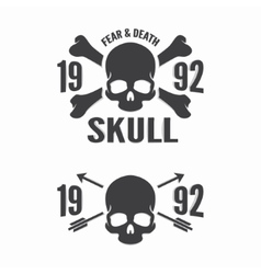 skull and bones logos vector image