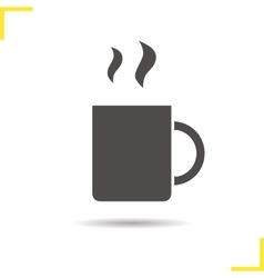 Steaming cup icon vector