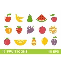 Stylized of fruit icons vector image