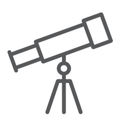 telescope line icon school and education vector image