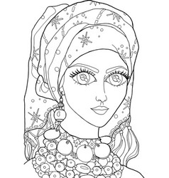 The girl with a decoration on her head 28 vector
