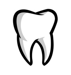 Tooth icon vector