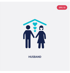 Two color husband icon from family relations vector