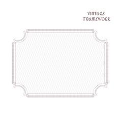 vintage antique decorative rectangular frame made vector image