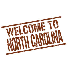 Welcome to north carolina stamp vector