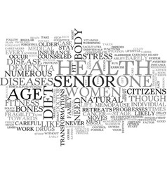 what do you need to know about senior s health vector image