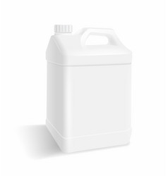 White plastic gallon vector