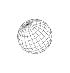 Wireframe earth grid mesh objects network line vector