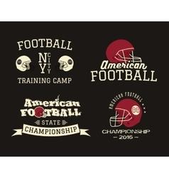 American football championship team training camp vector