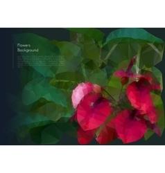 Flower polygonal mosaic eps 10 vector image