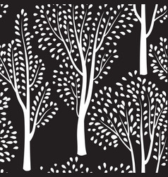 nature seamless pattern forest tiled background vector image