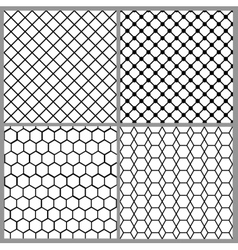 seamless net patterns vector image vector image