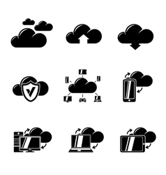 Set of Cloud Computing icons vector image vector image