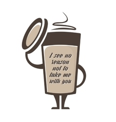 Coffee to go vector image vector image
