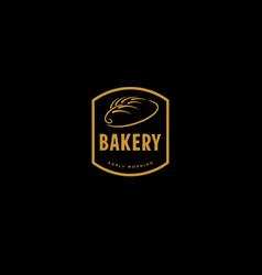 gold retro bakery badge vector image vector image