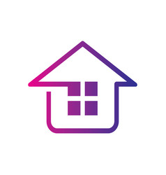 home construction building logo image vector image vector image