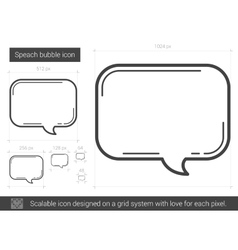 Speach bubble line icon vector