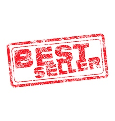 Best seller red grunge rubber stamp vector image vector image