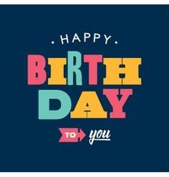 birthday card letterpress blue background vector image vector image